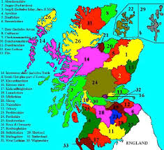 England Counties Map by