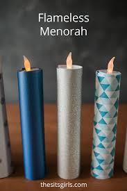 menorah candles flameless menorah candles hanukkah craft project for kids
