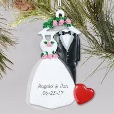 personalized wedding christmas ornaments personalized wedding ornaments engagement ornaments