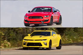 ford mustang chevy camaro 2016 ford mustang shelby gt350r vs 2016 chevrolet camaro ss