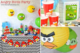 birthday party planner template kara s party ideas angry birds themed birthday party planning today