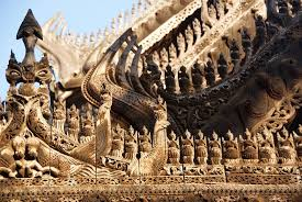 wood carvings picture of golden palace monastery shwenandaw