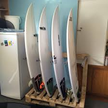 surfboard rack diy from old wooden pallets up cycled projects