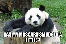 Panda Mascara Meme - has my mascara smudged a little panda eyes make a meme