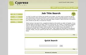 Creating A Professional Resume Cypress Resume Laurel County Public Library