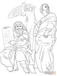 king belshazzar and the writing on the wall coloring page free