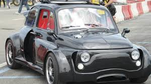 modified lamborghini heavily modified fiat 500 has a lamborghini v12 engine video