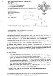 Kindergarten Baden Baden Grünen Fraktionen Und Eltern Fordern Einhaltung Der Zusage Für