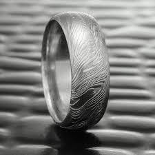 damascus steel wedding band 8mm wide half damascus steel wedding band wood