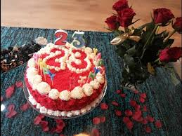 how to decorate red velvet birthday cake youtube