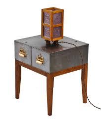 custom built quartered oak and walnut wood electric table or desk