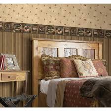chesapeake tugalo bear paw lodge wallpaper border tll01561b the