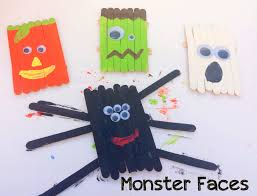 the popsicle stick monster faces u2013 kid craft u2013 miniature masterminds
