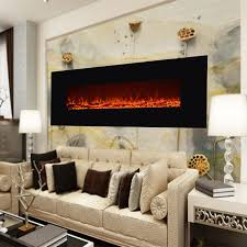 christmas 50 u2033 electric fireplace wall mounted heater heating