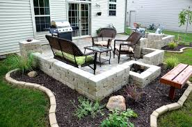Backyard Flooring Options - patio ideas outdoor patio with fireplace and tub cheap patio