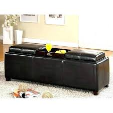 Square Leather Ottoman With Storage Leather Square Storage Ottoman Etechconsulting Co