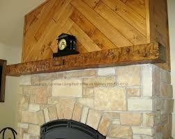foxy living room decoration using rustic wooden mantel shelf over