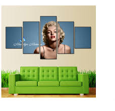 online shop canvas painting stick on the wall 5 panel marilyn