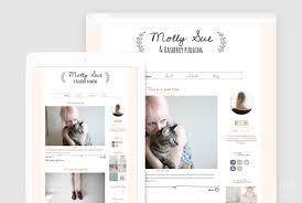 Design Blogger by Cute Blogger Template Premade Blogger Design Girly Blog