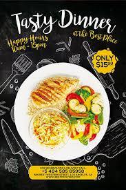 dinner flyer free restaurant poster template download free