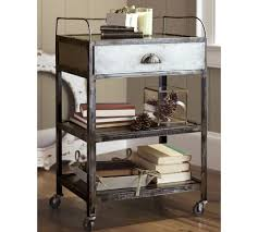 pottery barn bedside table metal rolling cart bedside table pottery barn bedside tables