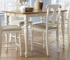 white counter height kitchen table and chairs distressed white counter height table table designs