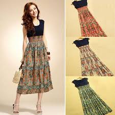 new casual dress 2015 new selling women flower print dress
