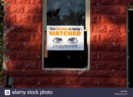Halloween Usa Mi Neighborhood Watch Sign For Devil U0027s Night On Vacant Dwelling