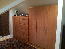 decorations scenic brown mahogany wardrobe closet for attic