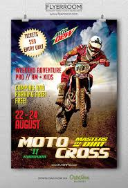 freestyle motocross tickets motocross sports flyer template flyerroom