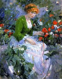 298 best women u0026 flowers images on pinterest painting portrait