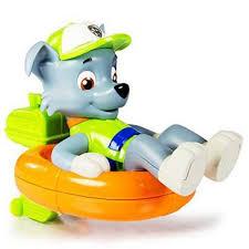 buy paw patrol paddlin u0027 pups rocky action figures range