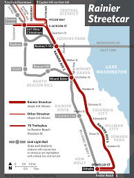 Seattle Link Map by The Case For A Rainier Avenue Streetcar