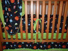 Rocket Ship Crib Bedding Baby Boy Crib Bedding Solar System Brown Rocket Ship Outer