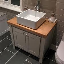 vanity sink units for bathrooms pavilion grey vanity unit with oak top aspenn furniture 2d