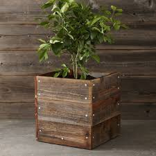 Redwood Planter Boxes by 10 Easy Pieces Square Wooden Garden Planters Gardenista