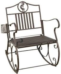 black iron double rocking chair iron outdoor swing chair iron