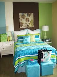 turquoise and lime green bedding bedroom beach with aqua arched