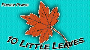 10 leaves finger play song for children