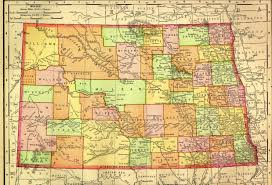 Nd Road Map Nd 1895 Jpg