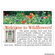 wildflower seed packets favor sized seed packet american