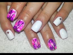how to sharpie nail art quick and easy acrylic nail design for