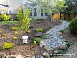 Backyard Makeover Ideas Diy Diy Dry River Bed Backyard Makeover On A Budget From Pink And