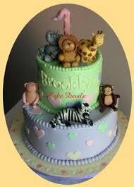 elephant giraffe lion animal cupcake toppers fondant jungle