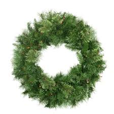 christmas wreath pre lit atlanta mixed cashmere pine artificial christmas wreath