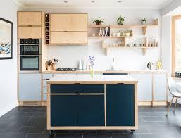 spray painting kitchen cabinets edinburgh striking and simple birch plywood kitchen in edinburgh