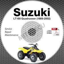 1989 2002 suzuki lt160 lt f160 quadrunner service manual cd atv
