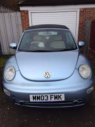 volkswagen vw beetle cabriolet convertible pale blue cream leather