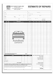 repair estimate form project cost and profit blank estimate