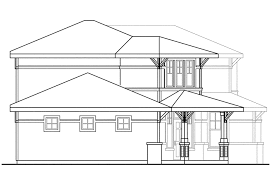 Prairie Style House by Craftsman House Plans Bowman 30 315 Associated Designs